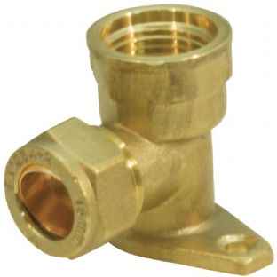 15mm compression fitting Straight Back Plate Elbow (Bag of 10=£18.90)